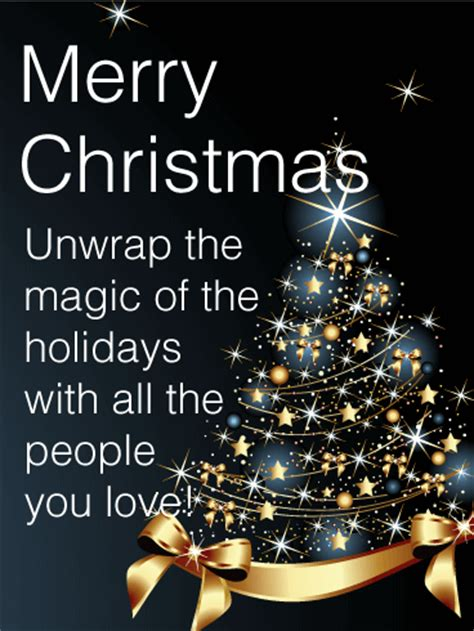 star christmas tree card birthday greeting cards  davia