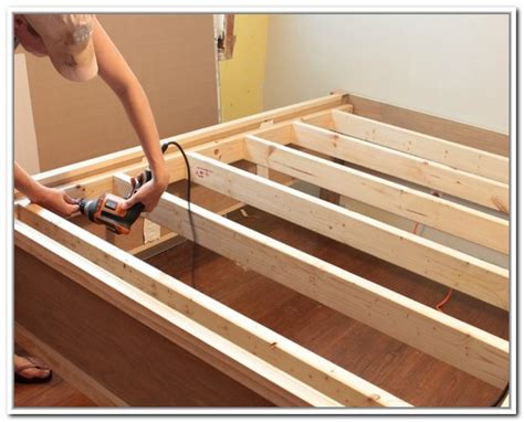 diy bed frame with storage california king storage bed frame home design ideas