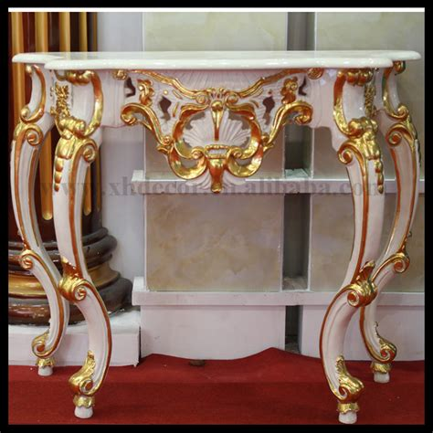french gold ornate wall table console with mirror foyer