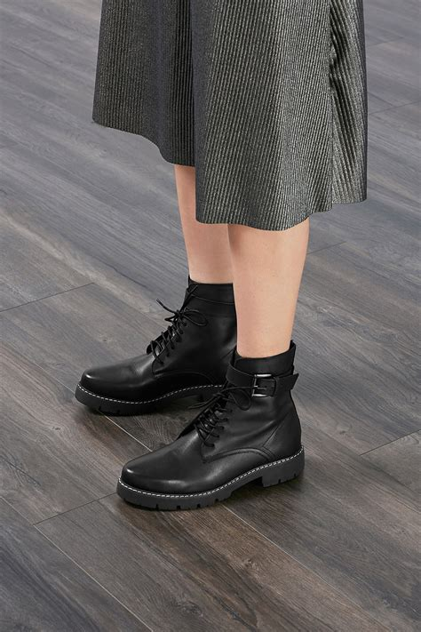 esprit leather esprit leather ankle boots with buckled straps at our