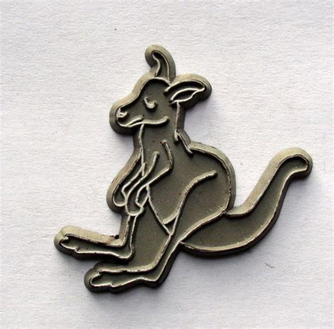 Vintage Rubber Fridge Magnet Kangaroo Image Thingery