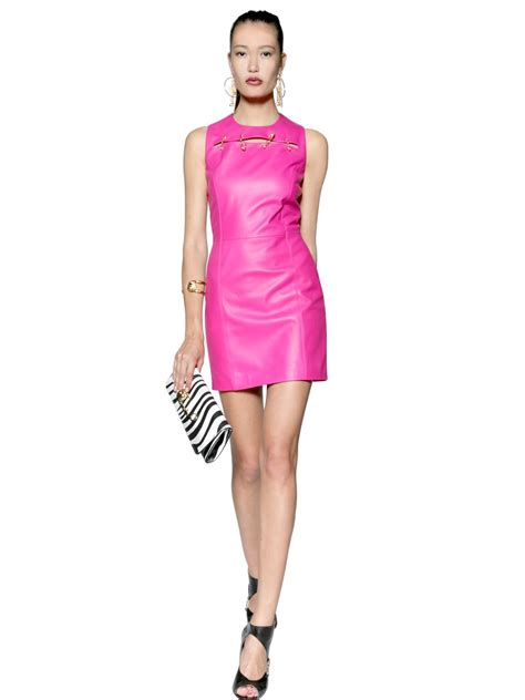 Pink Leather Dress   Cocktail Dresses 2016