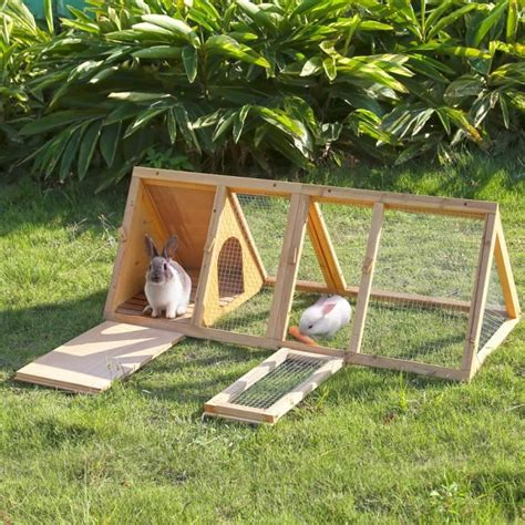 Rabbit Cage Hutch Ikayaa Clapier Poulailler 224 Lapin Poules Cage Forme