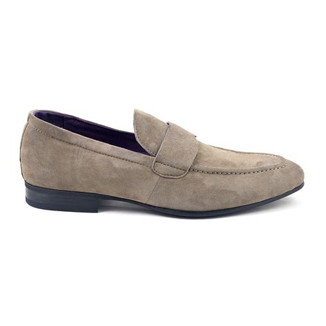 buy mens loafers buy mens taupe suede loafers mens loafers gucinari