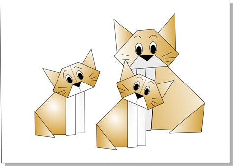 Origami Chat - gato terry nicolas terry chat origami