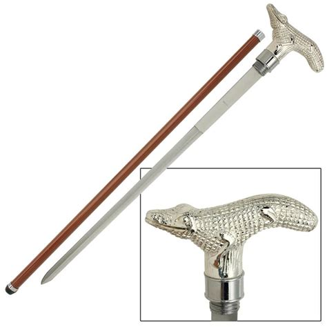 sword walking canes alligator walking sword