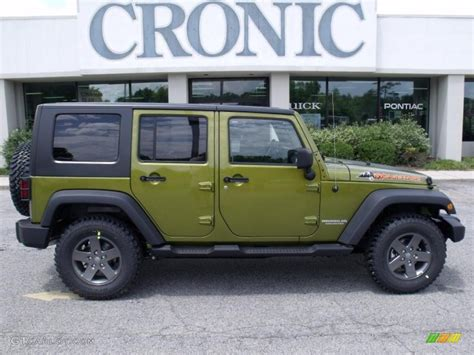 jeep dark green 2010 rescue green metallic jeep wrangler unlimited