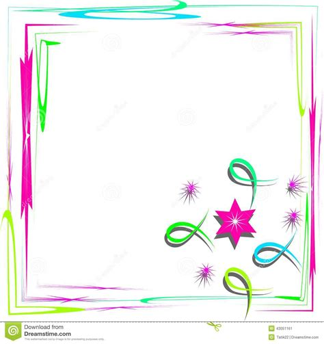 frame design simple bright frame with abstract design stock vector image