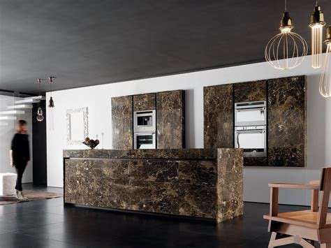 cucine toncelli cuisine en marbre avec 238 lot essential emperador by