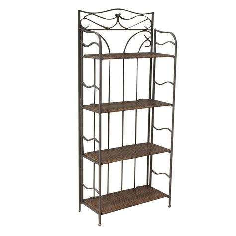 Bakers Rack Antique by International Caravan Valencia 4 Tier 24 Quot Bakers Rack In Antique Brown Ebay