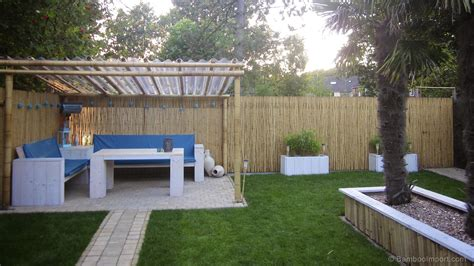 decor tips pergola and bamboo fencing with patio