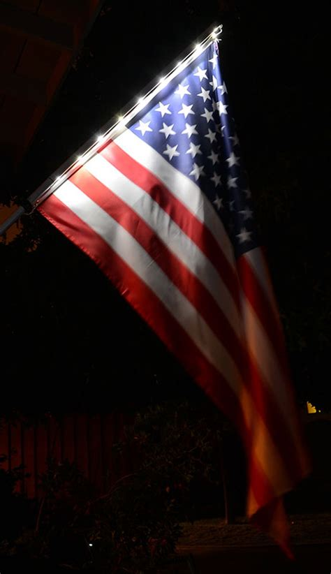 Lighting Flags by Solar Light Flagpole And American Flag