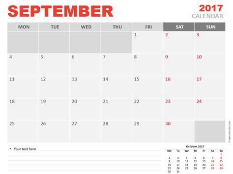September 2017 Powerpoint Calendar Presentationgo Com Powerpoint Calendar Template 2017