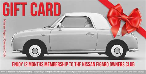 gift card gift card figaro owners club 1998 nissan
