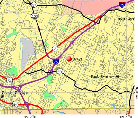 zip code map chattanooga tn 37421 zip code chattanooga tennessee profile homes