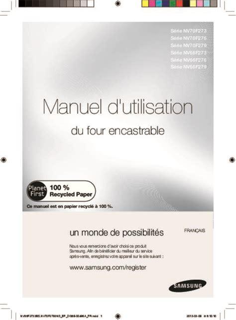 Manuel D Utilisation Samsung A10 by Mode D Emploi Four Samsung Nv70f2793ns Trouver Une Solution 224 Un Probl 232 Me Samsung Nv70f2793ns