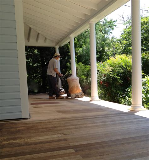 Best Wood For Porch Floor by Front Porch Part 3 Of 3 Where We Sand And Stain The