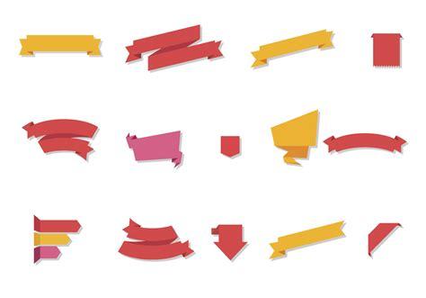 vector free free flat ribbon vector set free vector