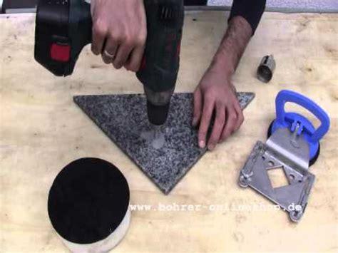 In Granit Bohren by Howto Bohren Mit Diamantbohrkrone In Granit Www Bohrer