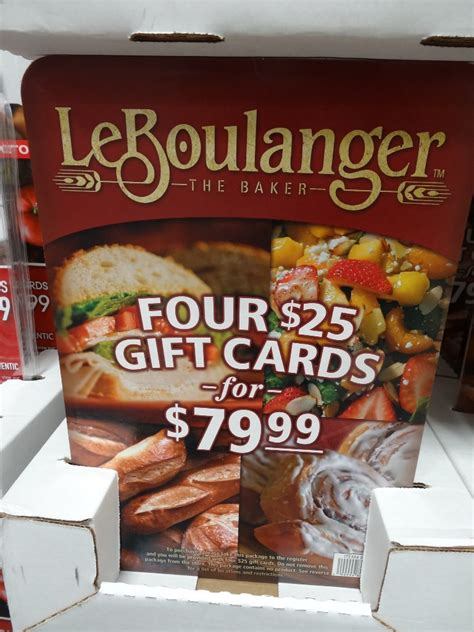 Discounted Gift Cards At Costco - le boulanger discount gift card