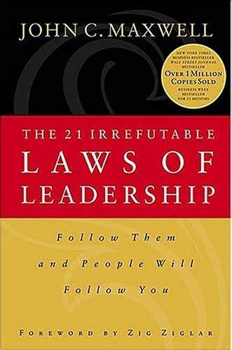 21 irrefutable laws of leadership ebay