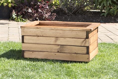 heavy duty wooden trough garden planters 3 sizes uk made