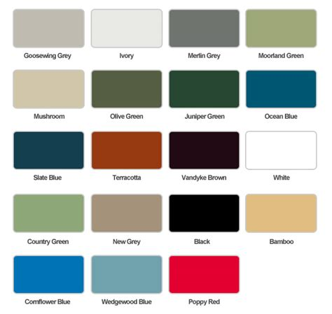 steel color our steel buildings come in a range of colours