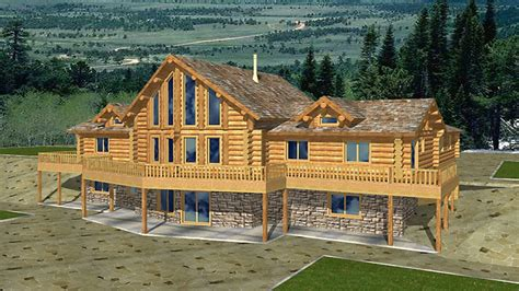 Large Log Home Floor Plans by Log Home Plans With Basement Open Floor Plans Log Home