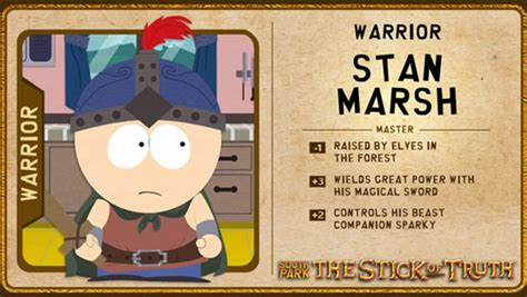 Stan Marsh Meme - south park the stick of truth の主要な登場人物とその役柄を紹介する素敵な