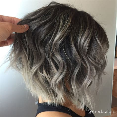 ashblond with silver highlites short hair photo of d rock salon fairfax va united states silver