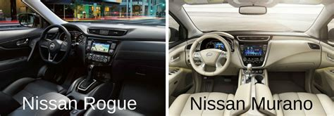 nissan murano 2017 interior difference between the 2017 nissan rogue and 2017 nissan