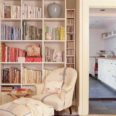 bookshelves ideas living rooms living room with bookshelves and armchair housetohome co uk