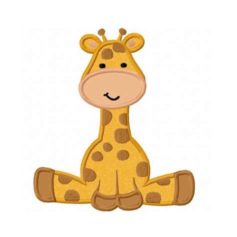 Giraffe Applique by Giraffe Baby Applique Machine Embroidery By