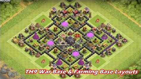 th9 layout update th9 war base and farming base layouts top 2018