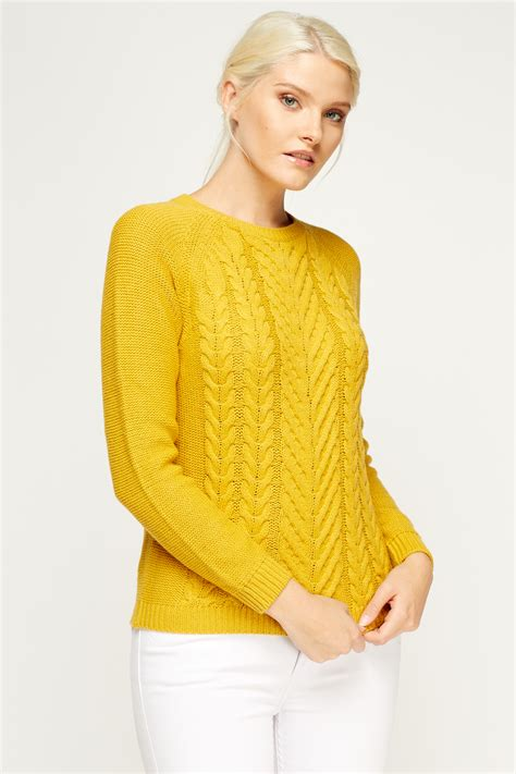 mustard knit sweater cable knit sweater mustard just 163 5