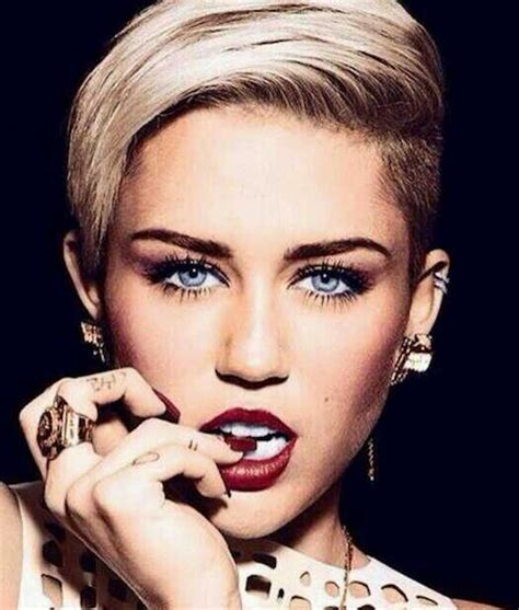 miley cyrus inspired womans disconnected haircut barber miley cyrus short haircut for women male models picture