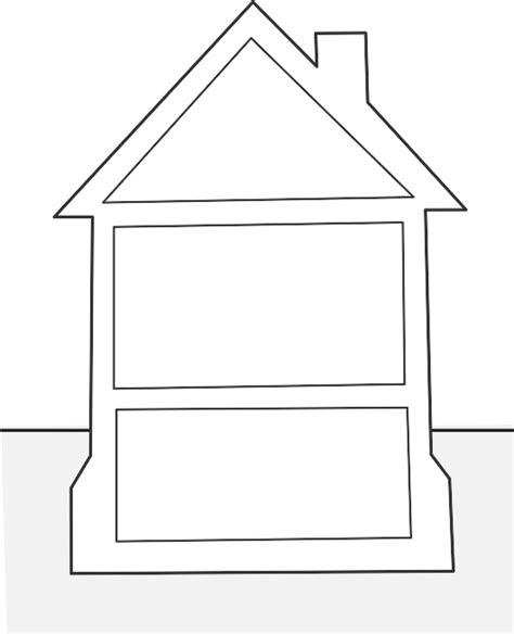 template of house house template clipart best