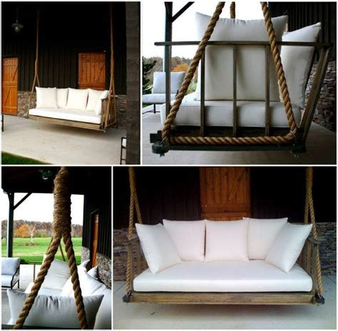 homemade porch swing porch swing craft diy pinterest