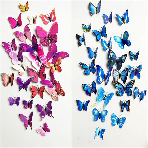 12pcs 3d butterfly wall stickers aliexpress buy free shipping 12pcs pvc 3d butterfly