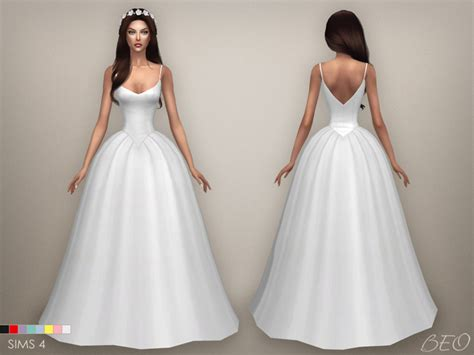 Cc Dress sims 4 cc s the best wedding dress by beo