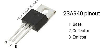 transistor a940 datasheet 2sa940 p n p transistor complementary npn replacement pinout pin configuration substitute
