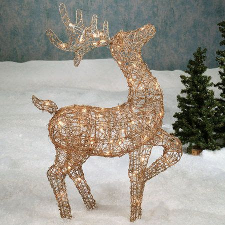 rattan deer lighted sculpture wire sculpture pinterest