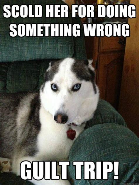 Guilt Meme - scold her for doing something wrong guilt trip misc quickmeme