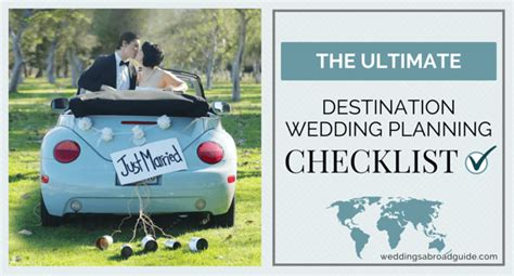 Wedding Checklist Abroad by Wedding Planning Checklist For Destination Weddings Abroad