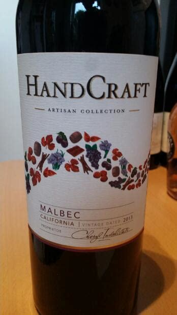 Malbec Handcraft - 2013 handcraft malbec usa california cellartracker