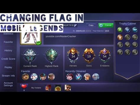 change mobile legend mobile legends how to change country flag in mobile
