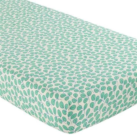 Green Crib Sheets princess pea crib fitted sheet green leaf
