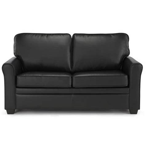 alyssa couch alyssa modern sofa bed in black faux leather 25872