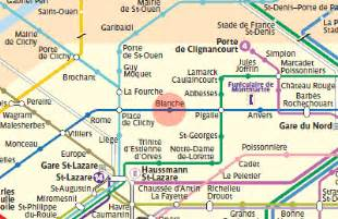 blanche station map metro