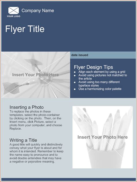 flyer templates bookletemplateorg